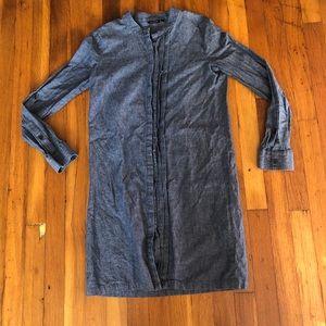 Kate Spade Saturday Sz XS Denim Longsleeve Dress